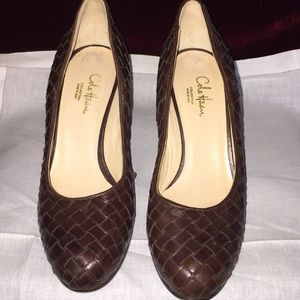 Cole Haan 3.5 inch woven leather Heels